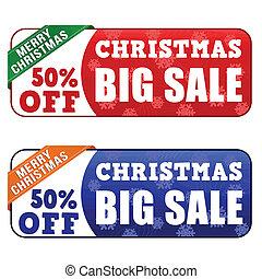 Christmas big sale banners