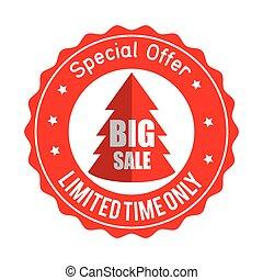 christmas big sale special offer sticker