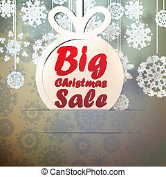 Christmas Big Sale template with copy space.
