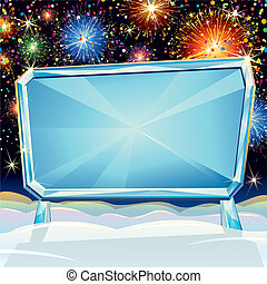 Christmas Billboard - Abstract background with Empty...