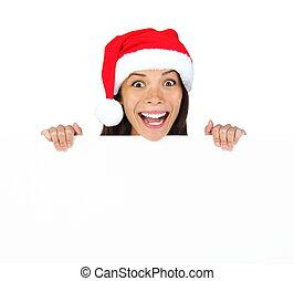 Christmas billbord woman
