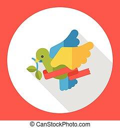 Christmas bird flat icon