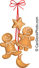 Christmas biscuits. Contains transparent objects. EPS10...