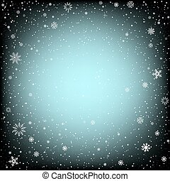 Christmas black background with snow