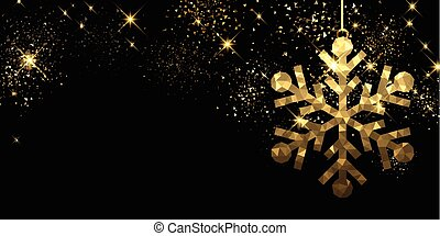 Christmas black background with snowflake.