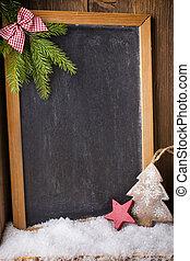 Christmas blackboard.