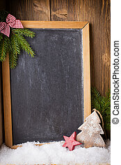 Christmas blackboard.