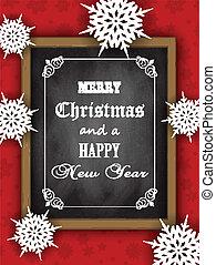 Christmas blackboard design