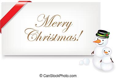 Christmas Blank Gift Tag, Vector Illustration