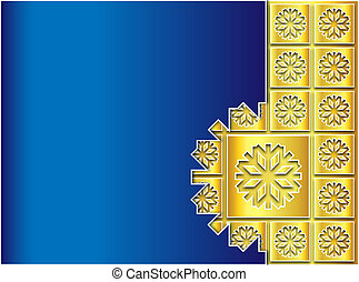 Christmas blue and gold background