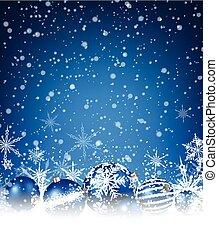 Christmas blue background.
