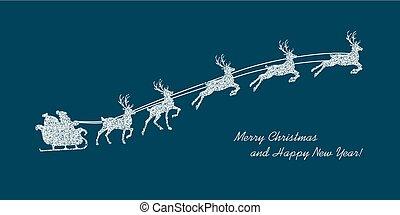 Christmas blue background