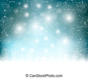 Christmas blue background snowflakes
