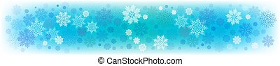 Christmas blue background with a silhouette of delicate, fragile snowflakes.