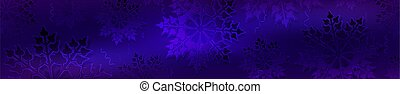 Christmas blue background with gradient, set of gorgeous snowflakes