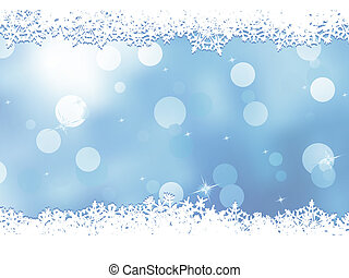 Christmas blue background with snow flakes. EPS 8 -...