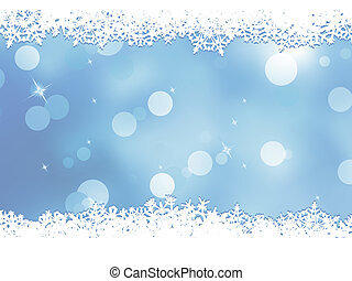 Christmas blue background with snow flakes. And also includes EPS 8 vector