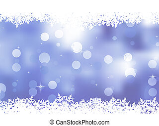 Christmas blue background with snow flakes. EPS 8