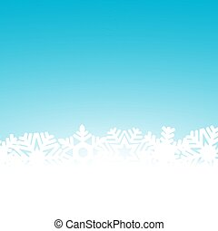 Christmas blue background with snowflakes and light