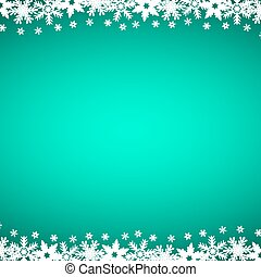 Christmas blue background with snowflakes, vector