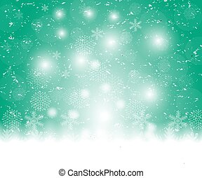Christmas blue background, with snowflakes vector