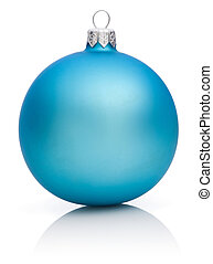 Christmas Blue Ball Isolated on white background