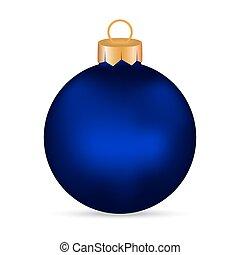 Christmas blue Christmas ball on a white background