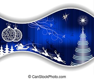 Christmas blue design