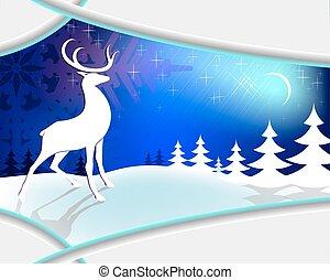Christmas blue design with frame