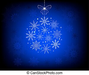 Christmas blue design with snowflakes