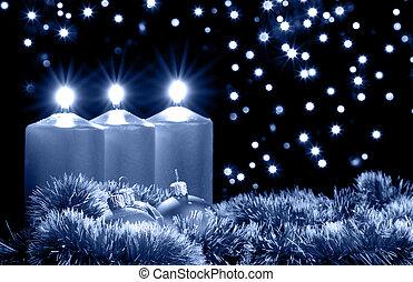 Christmas blue evening