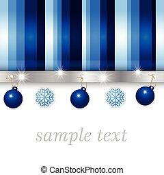 christmas blue greeting card
