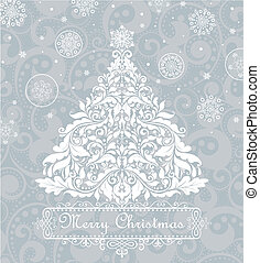 Christmas blue greeting card
