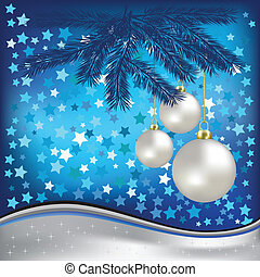 christmas blue greeting with stars