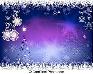 Christmas blue, purple background