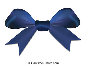 Christmas blue red bow isolated