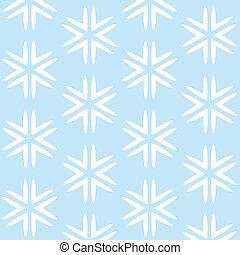 Christmas blue seamless background with white snowflakes