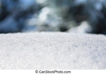 christmas blue snow, winter background