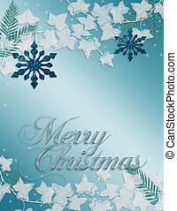 Christmas Blue snowflake card