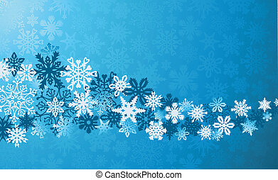 Christmas blue snowflakes background