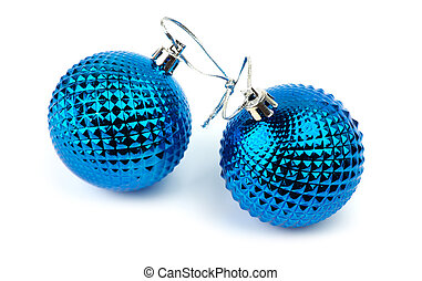 Christmas blue toy on a white background