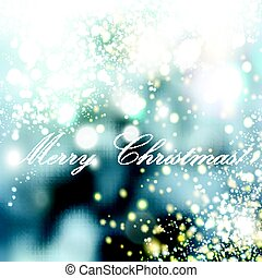 Christmas blurred background wit hlights Snowfall illustration