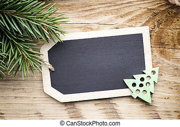 Christmas board card.