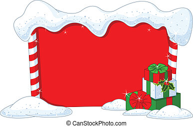 Christmas board - Snowbound Christmas board with holiday...
