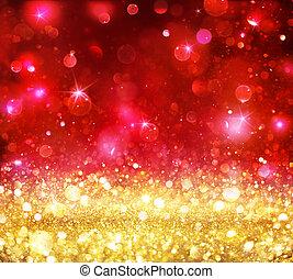 Christmas Bokeh - Golden Glitter