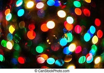 christmas bokeh light abstract holiday background