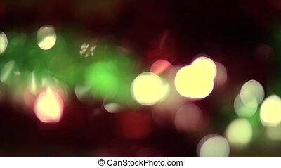 Christmas light bokeh motion