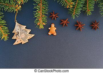Christmas border background.
