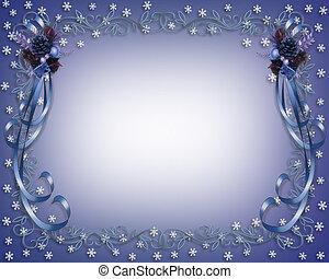 Christmas Border Blue