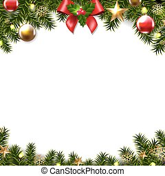 Christmas Border- - Christmas Border Gradient Mesh Vector...
